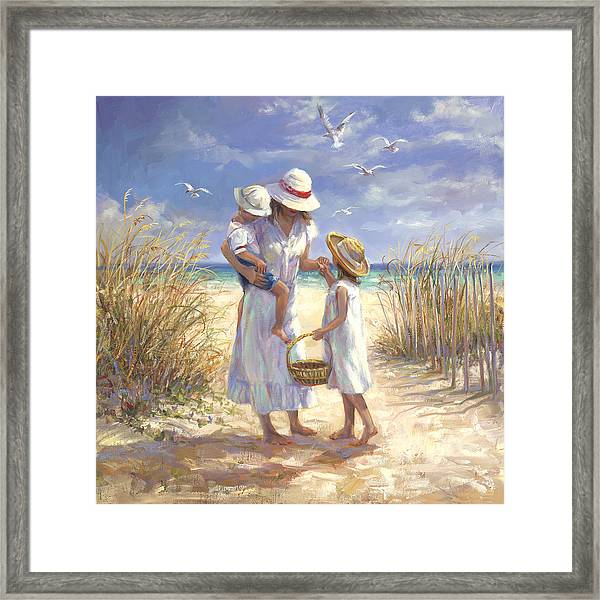 Mothers Day Beach Framed Print