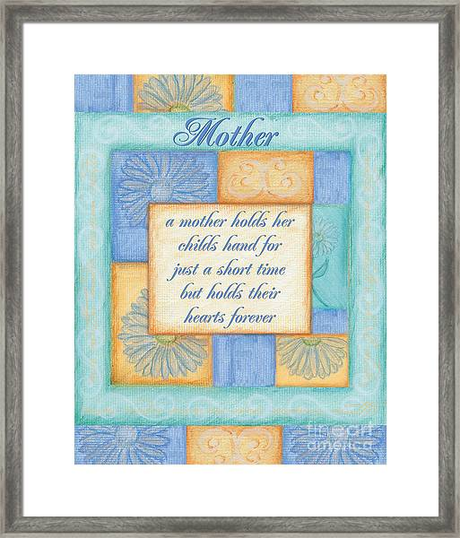 Mother's Day Spa Card Framed Print