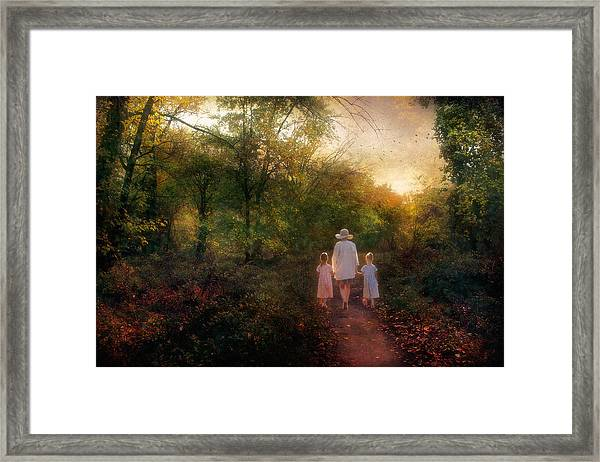 Mothers Guidance Framed Print