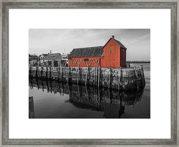 Motif No 1 Black And White Framed Print