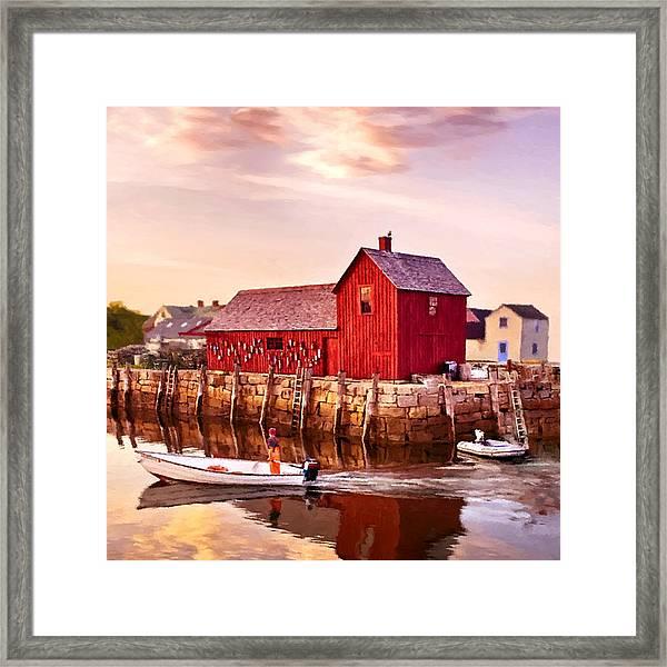 Motif Number One Rockport Massachusetts  Framed Print