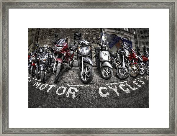 Motor Cycles Framed Print