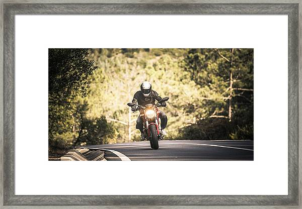 Motorbiking In Sintra Framed Print by Enrique Díaz / 7cero