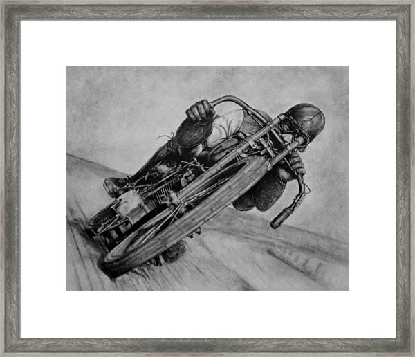 Motorcycle Man Framed Print