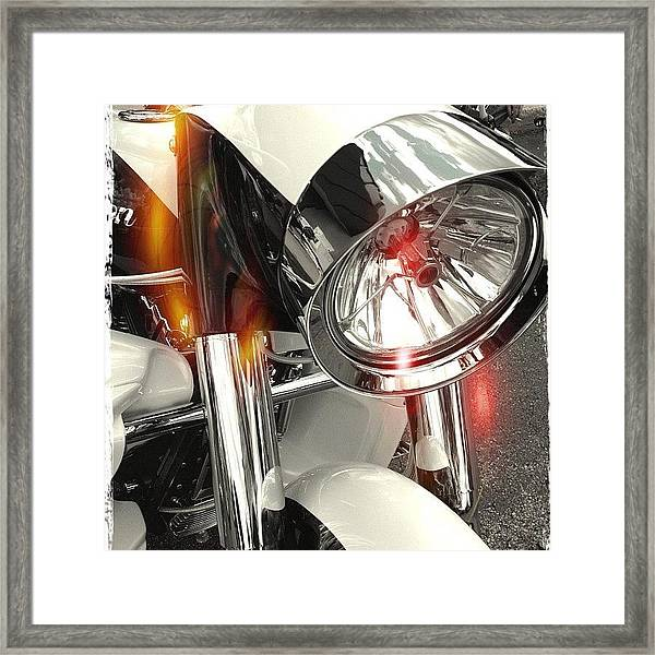 #motorcycle #motorcycles Framed Print