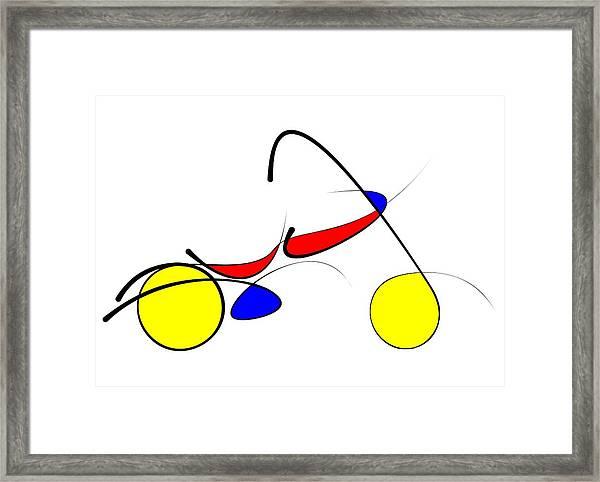 Motorcycle Framed Print