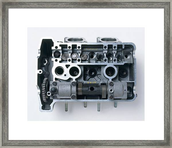 Motorcycle Part Showing Shim Located Framed Print