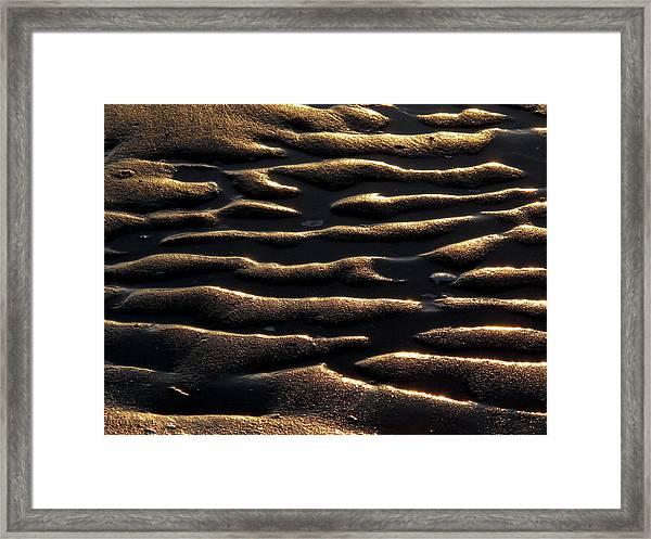 Moulded Sand Framed Print