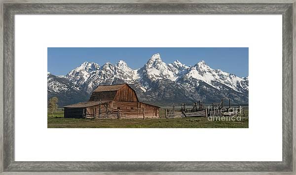 Moulton Barn - Grand Tetons I Framed Print