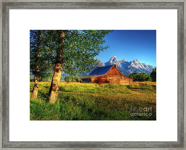 Framed Print featuring the photograph Moulton's Barn 3 by Mel Steinhauer