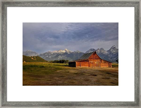 Moulton's Barn Framed Print