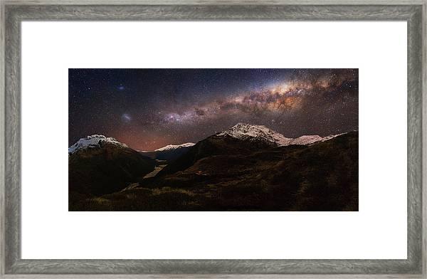 Mount Aspiring - Liverpool Hut Framed Print