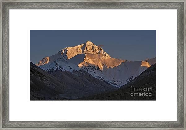 Mount Everest At Dusk Framed Print