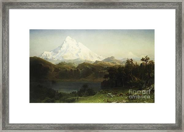 Mount Hood In Oregon Framed Print