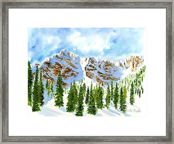Mount Ogden Framed Print