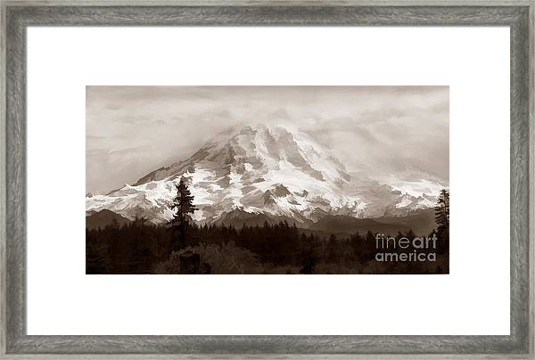 Mount Rainer Framed Print
