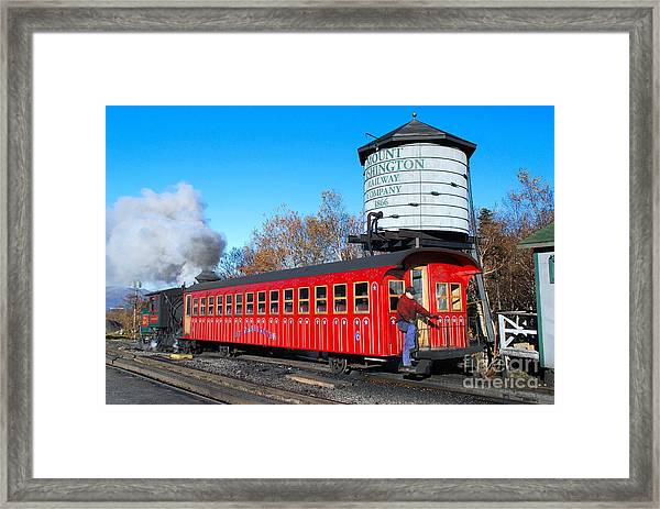 Mount Washington Cog Railway Car 6 Framed Print