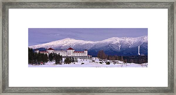 Mount Washington Hotel Winter Pano Framed Print
