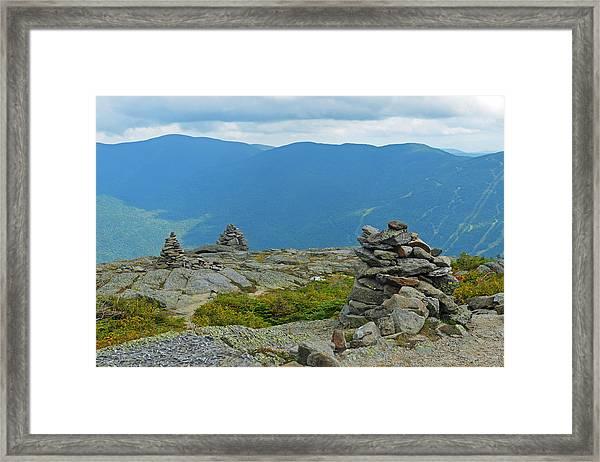 Mount Washington Rock Cairns Framed Print