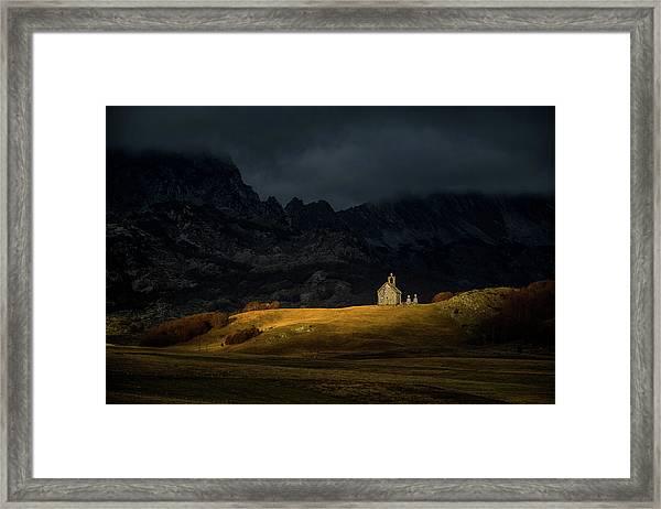 Mountain Church Framed Print