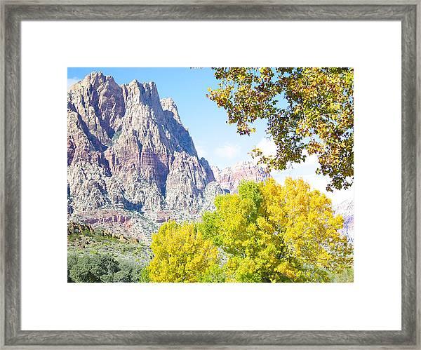 Mountain Fall Delight Framed Print