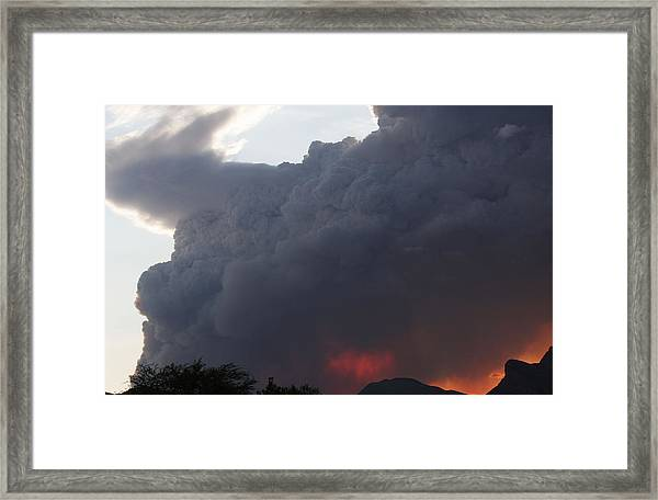 Mountain Fire Framed Print