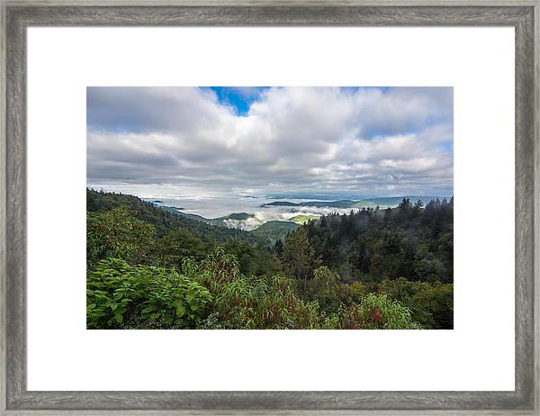 Framed Print featuring the photograph Mountain Fog by Francis Trudeau