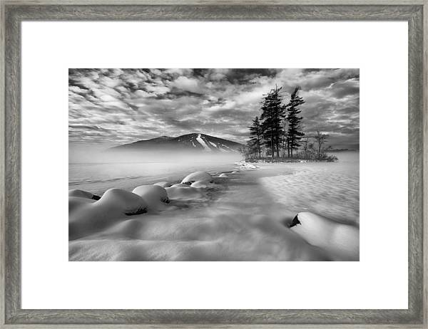 Mountain In The Mist Framed Print