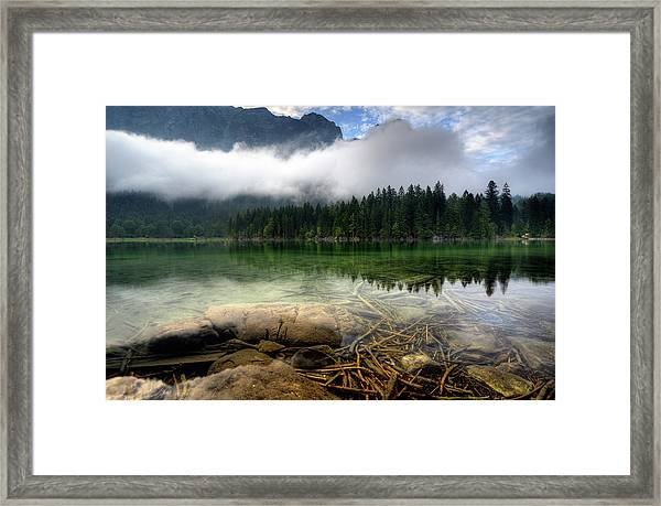 Mountain Lake Framed Print by