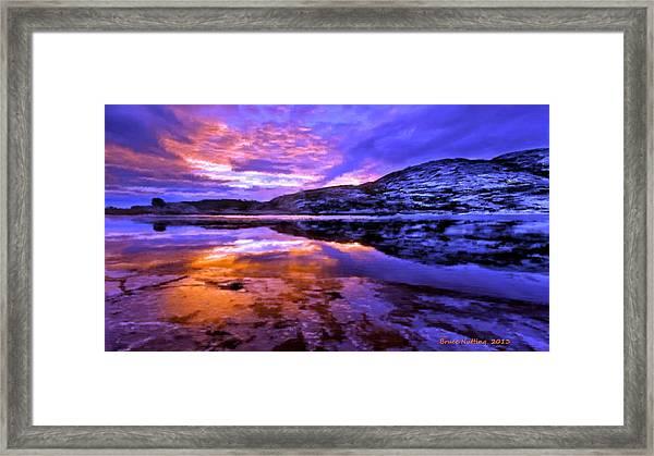 Mountain Lake Sunset Framed Print