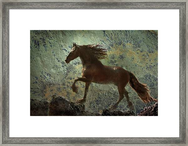 Framed Print featuring the photograph Mountain Majesty by Melinda Hughes-Berland