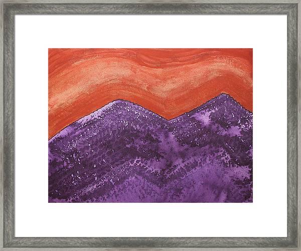 Mountain Majesty Original Painting Framed Print