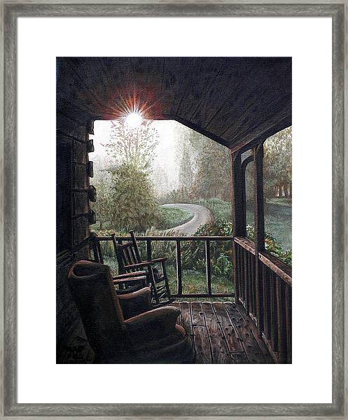 Mountain Memories Framed Print by Cara Bevan