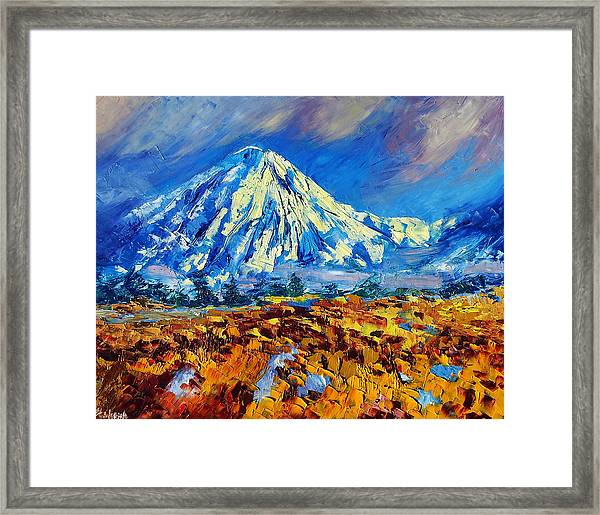 Mountain Painting Fine Art By Ekaterina Chernova Framed Print