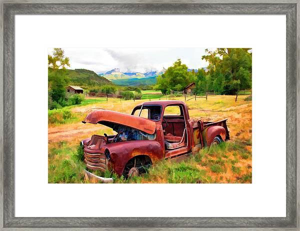 Mountain Ranch Truck Framed Print