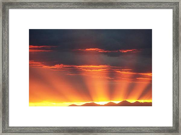 Mountain Rays Framed Print