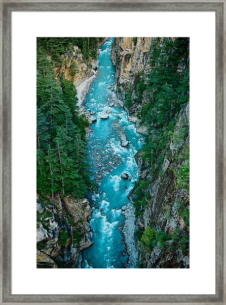 Framed Print featuring the photograph Mountain River Ganga In Valley Himalayas India by Raimond Klavins