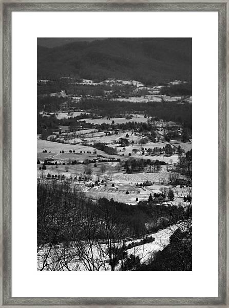 Mountain Snow Framed Print