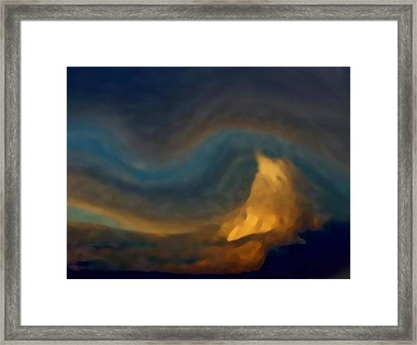 Mountain Storm Approaching Framed Print