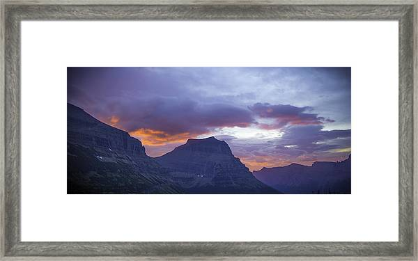 Sunrise Over Going To The Sun Mountain Framed Print