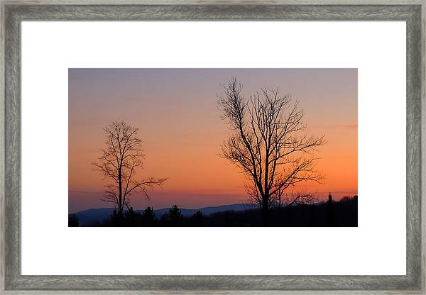 Mountain Sunset 1 Framed Print