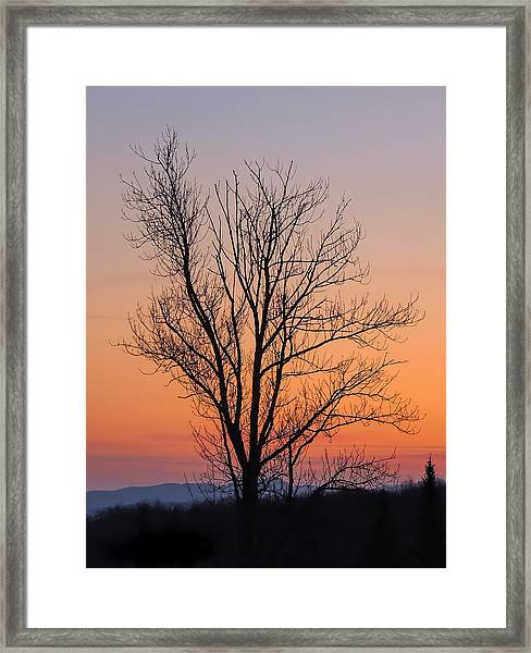 Mountain Sunset 2 Framed Print