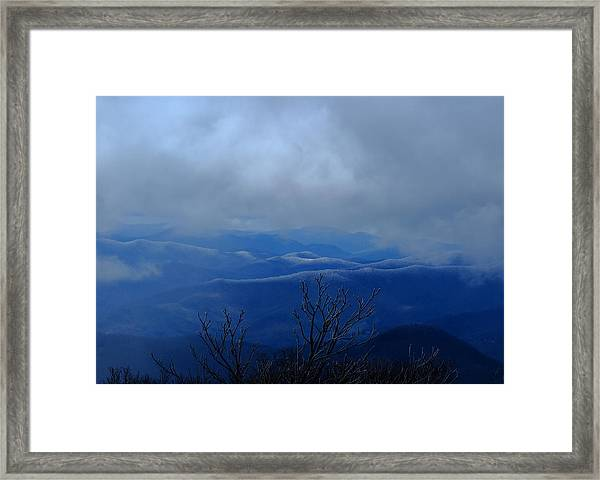 Mountains And Ice Framed Print