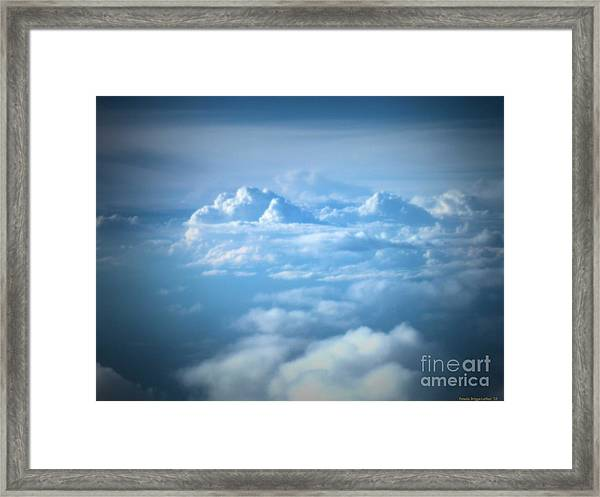 Mountains Of Clouds Framed Print