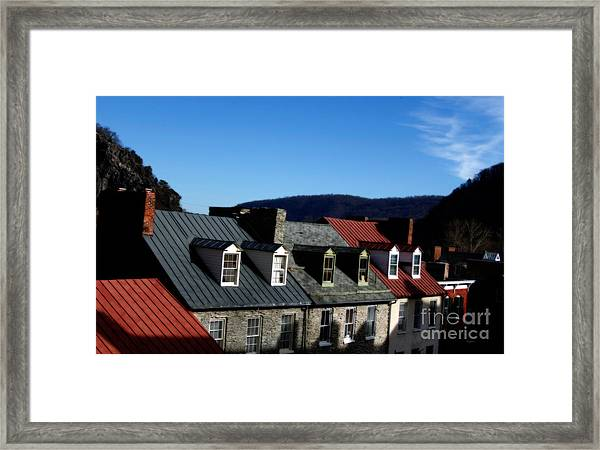 Mountains Of Rooftops  Framed Print by Steven Digman
