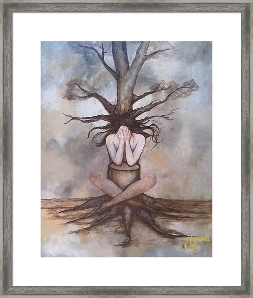 Mourning Nature Framed Print by Estela Gama
