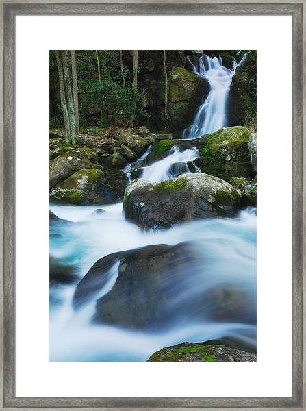 Mouse Creek Falls In Colour Framed Print