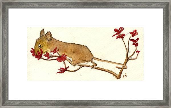 Mouse Flowers Framed Print