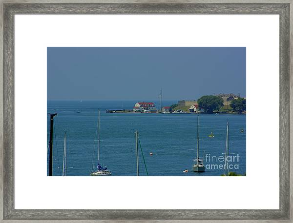 Mouth Of The Niagara River Framed Print