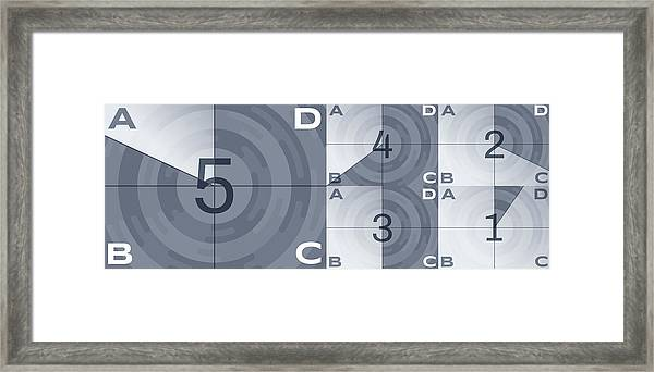 Movie Countdown Numbers Framed Print by Filo